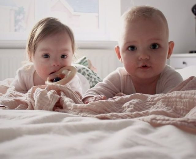 Babies on a bed